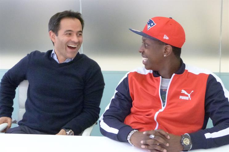 Teaming up: Marc Boyan of Miroma Ventures, left and Jamal Edwards of SB.TV