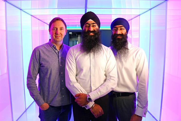 Karmarama's Nik Studzinski, Amardeep Singh Shakhon and Gurmit Singh Shakhon