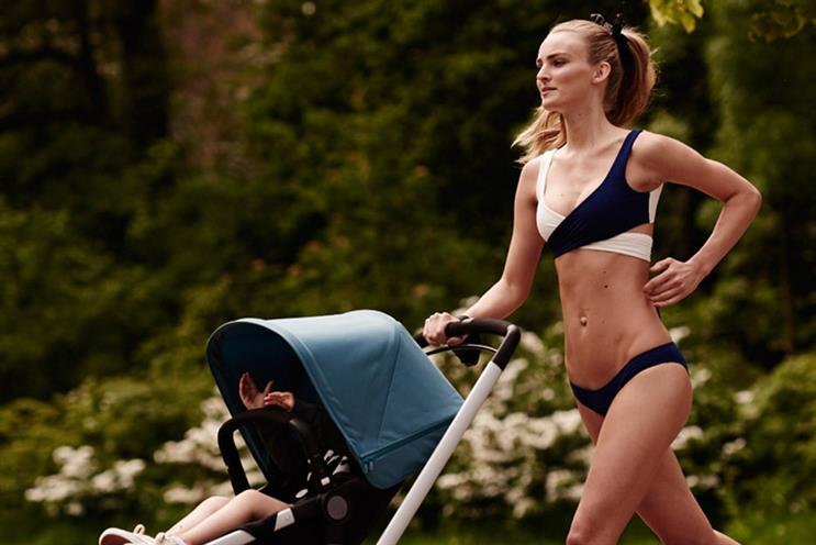 Bugaboo ad features Dutch model Ympre Stiekema running with her two-year-old daughter.