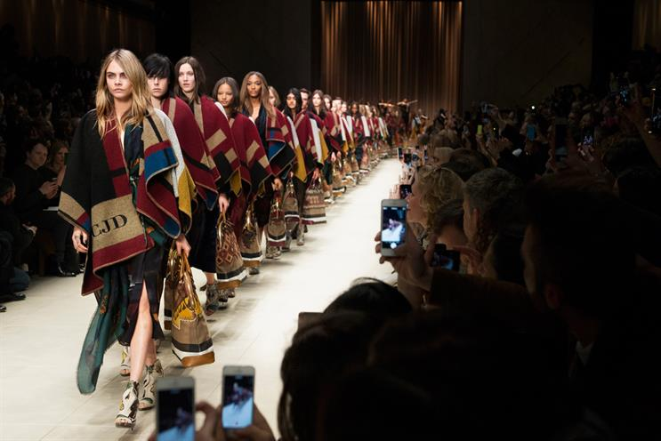 Burberry: bucked the luxury-brand trend by live-streaming from London Fashion Week on Twitter