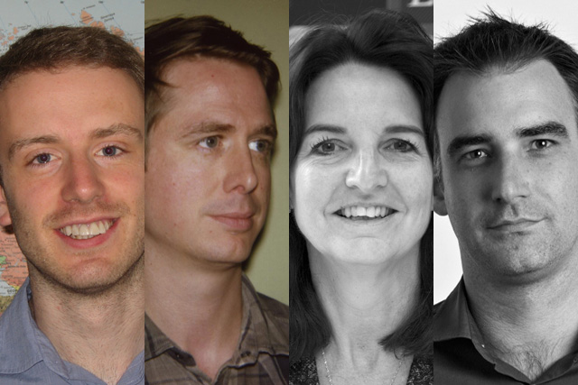 Matt Piner, Rob Ward, Lucy Unger and Alastair Lockhart