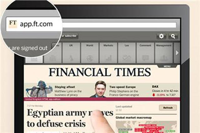 FT web app: close to 200,000 downloads since launch says publisher