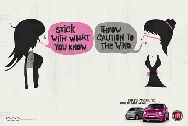 Fiat 500: 'endless possibilities' print campaign