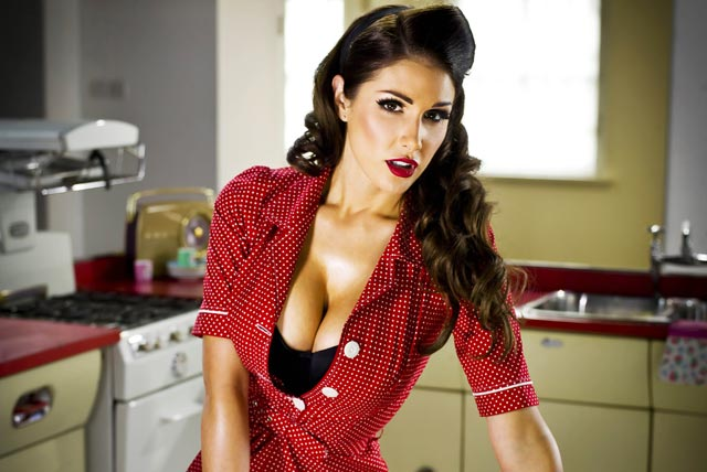Lynx: Lucy Pinder in the 'cleaner you are' campaign