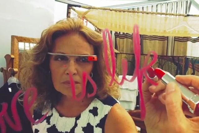 Diane Von Furstenberg: wears the Google Glasses