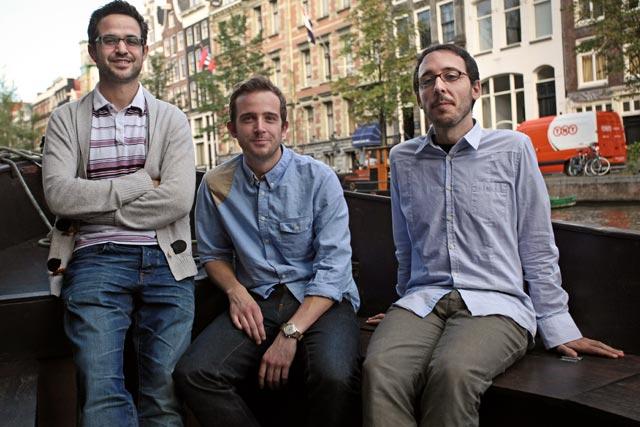 Dam Armada: from left, Jordi Martinez, Leigh Hibell and Jesus Gollonet