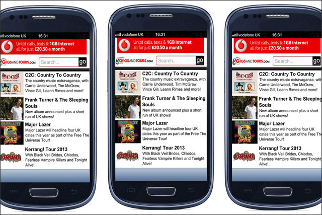 Vodafone: ad campaign targets mobile users at home