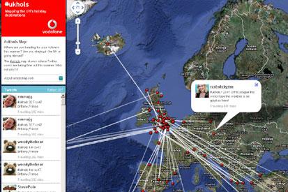 Vodafone's #ukhols map