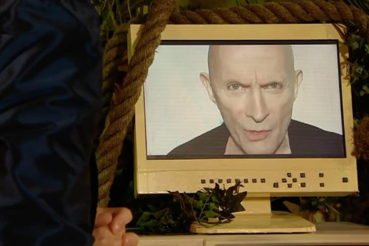 Richard O'Brien: the original host appeared on screen for a charity special edition of The Crystal Maze