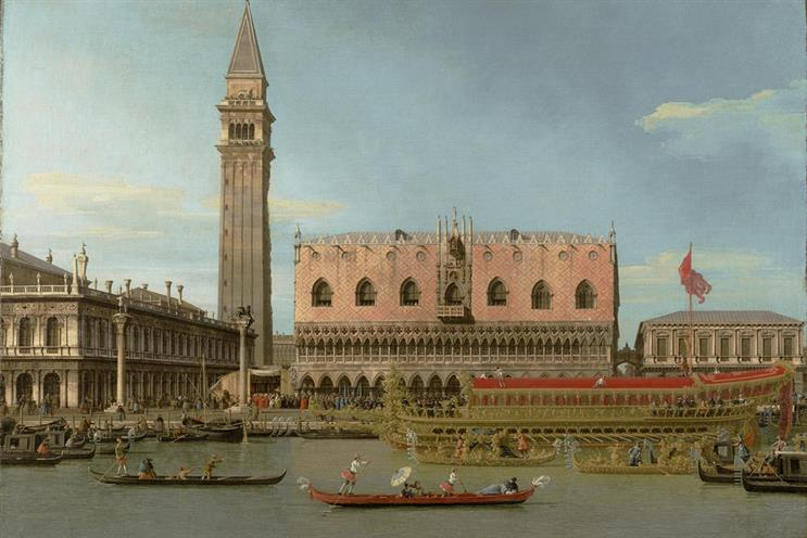Bucintoro at the Molo on Ascension Day by Canaletto