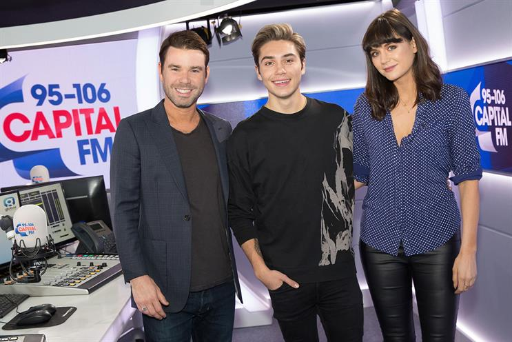 Capital: breakfast show presenters Dave Berry, George Shelley and Lilah Parsons