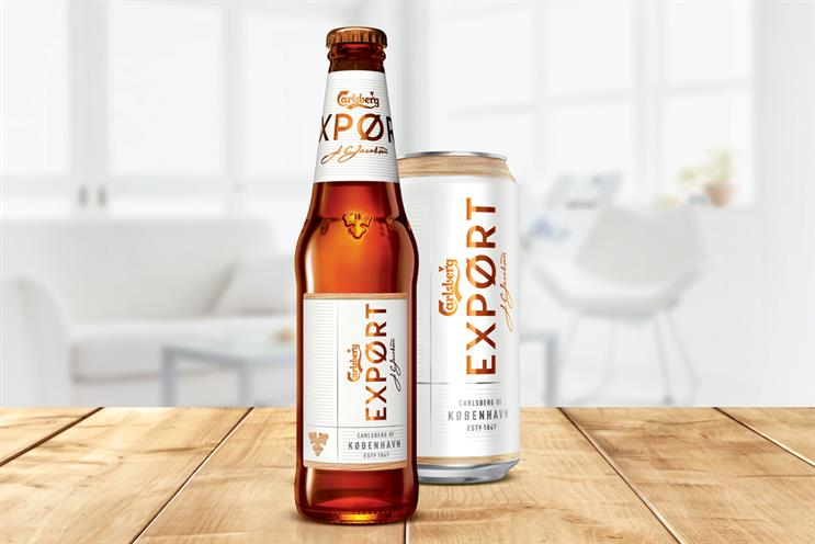 Carlsberg Export: new design launching in February