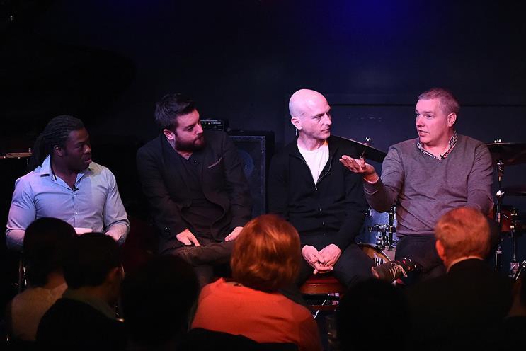 (L-R): Ade Adepitan, Alex Brooker, Craig Mawdsley, Paddy Power