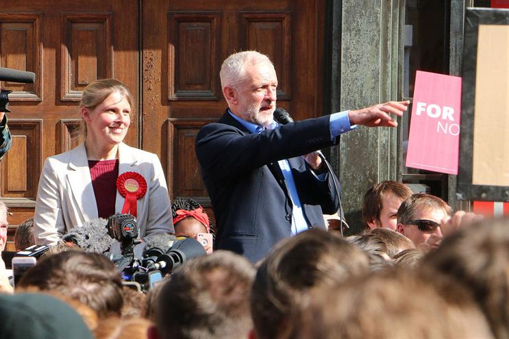Jeremy Corbyn, right, the Labour party leader