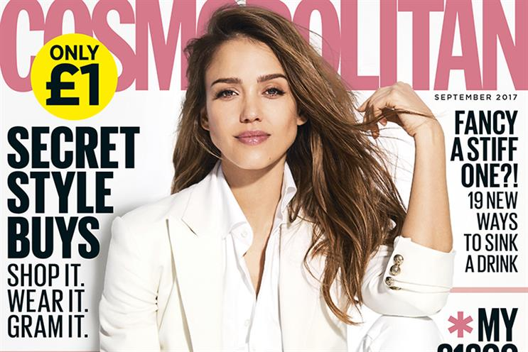 Cosmopolitan: down 2.2% year on year to 440,000 readers