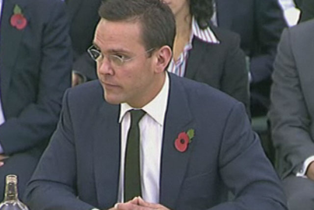 James Murdoch: at the parliamentary inquiry into phone hacking