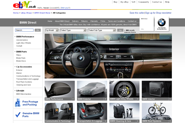 BMW: eBay part sales