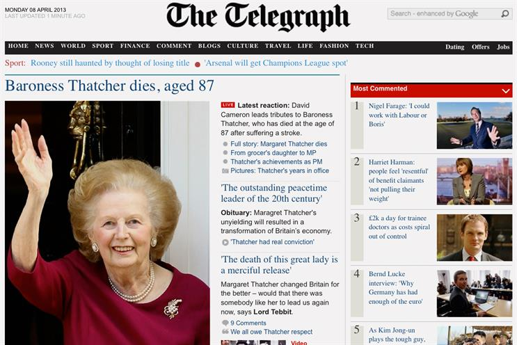 Telegraph reports 'solid' 2012 with 5% profit hike