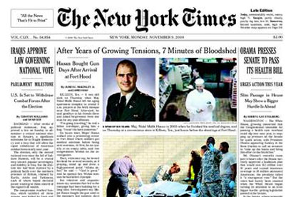 New York Times...among US publications considering stopping UK distribution