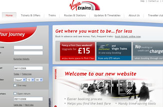 Virgin Trains overhauls website