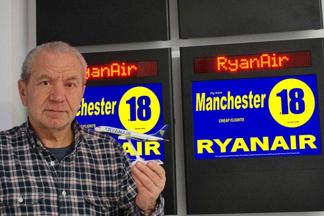 Lord Sugar: Ryanair to run ad campaign on Sugar's Amscreen digital outdoor network