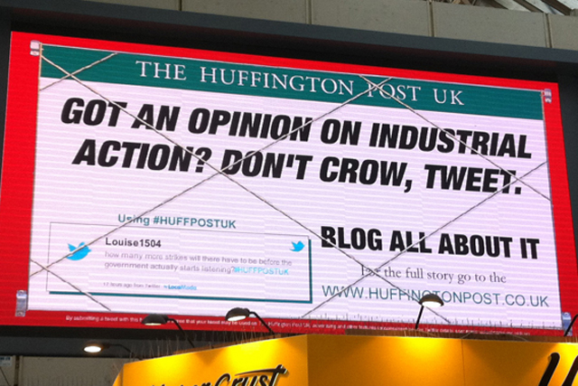 Huffington Post: last year's blog-led campaign
