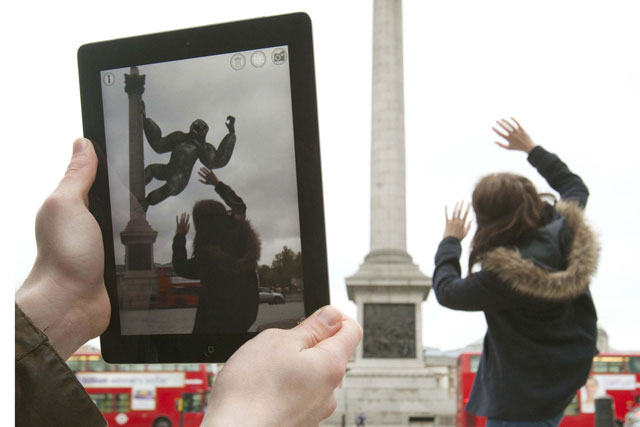 Universal Pictures: augmented reality app interacts with London landmarks