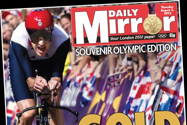Daily Mirror: celebrates Bradley Wiggins' Olympic win