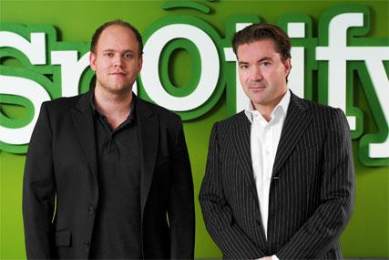 Spotify: Daniel Ek, chairman, and co-founder Martin Lorentzon