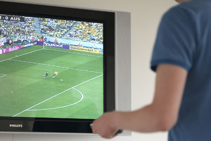 Commercial TV viewing: notched up record half year