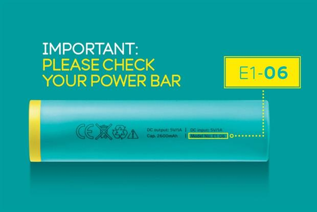 EE: the mobile operator has issued a second recall for its Power Bar portable charger