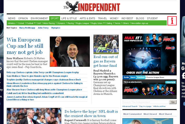 The Independent: monthly unique browsers grew by 13.33% in March