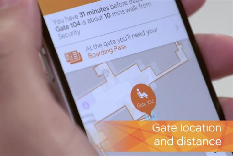 EasyJet: Mobile Host shows passengers info such as where to board their plane