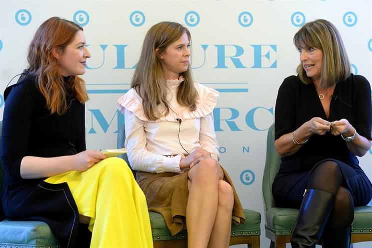 easyJet's Carolyn McCall (right): women need to be themselves