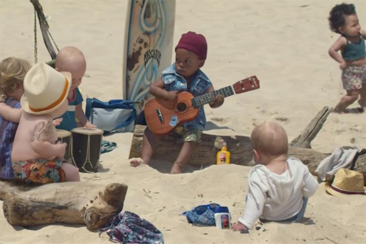 Evian returns to TV with new baby ad