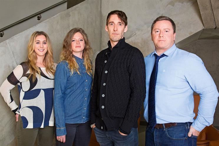Robinson, Duncan, Van De Ven and O'Byrne (l-r): will oversee MEC's creative output