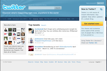 Twitter: used as model for new startup TweetUp