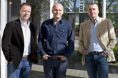 TBWA's newest team (l to r)...Matt Shepherd-Smith, Mark Hunter and Tim Lindsay