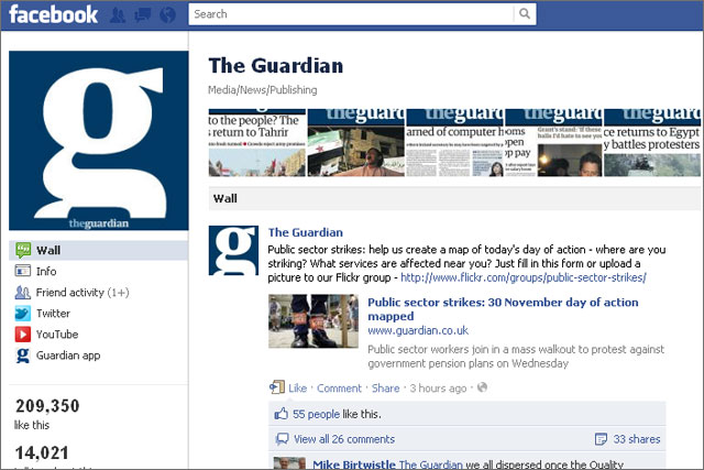 The Guardian: boosts readership with Facebook app