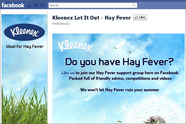 Kleenex: launches hay fever Facebook initiative
