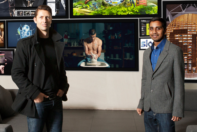 Poynton (left) and Vaz…'the comma opens up new pathways to create ongoing brand journeys'