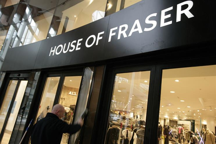 House of Fraser: moves its media business to GoodStuff from Starcom MediaVest Group