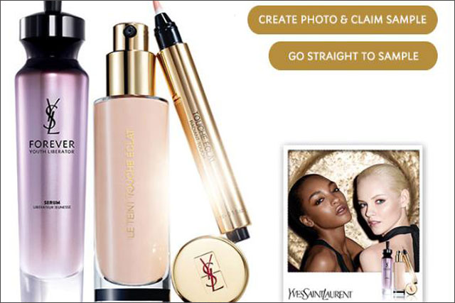 YSL:  Facebook app promotes Radiance cosmetics range