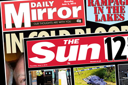 The Mirror and Sun: go head to head in South Africa