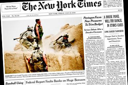 New York Times: recorded first revenue increase for three years