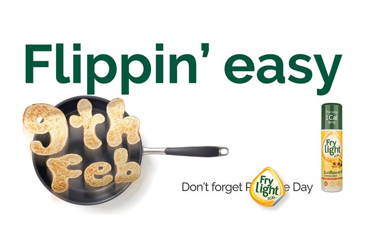 Frylight: worked with Scorch London on a Pancake Day campaign earlier this year