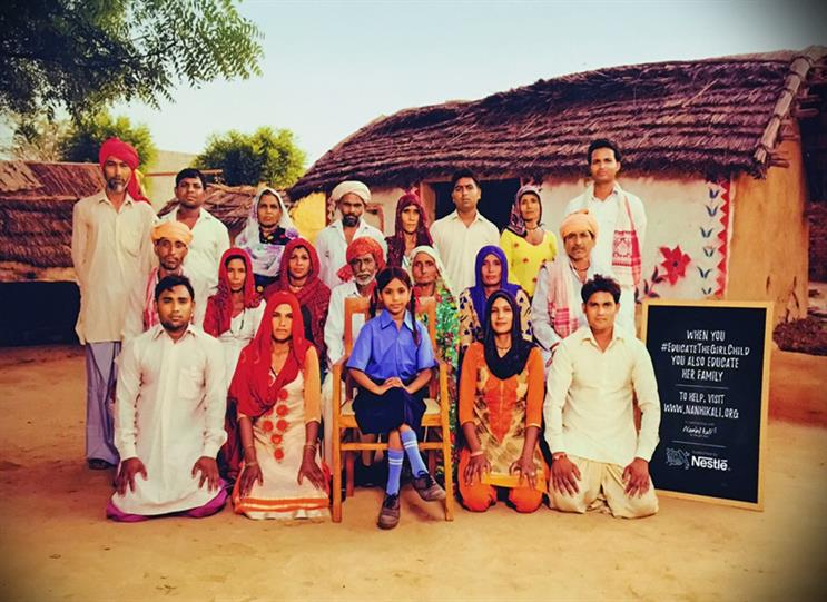"""Nestlé India: class photos' featuring the extended family all impacted in """"Educating the girl child"""""""