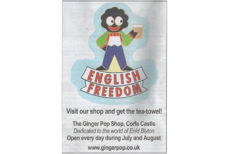 Dorset shop rapped by ASA over 'racist' golliwog newspaper ad