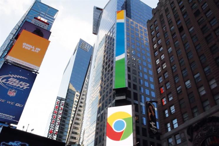 PHD helped with a Google takeover of the biggest digital billboard in Times Square