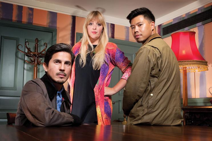 Gonzalez, Newton and Bayani (l-r)…bolster creative department